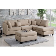 QUICK VIEW. Bobkona Dervon Reversible Chaise Sectional