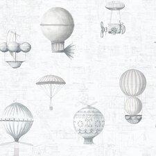 Steampunk Balloons 10m L x 53cm W Roll Wallpaper