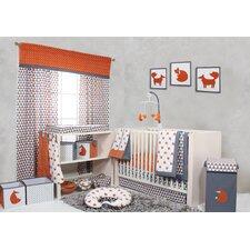 Playful Fox Bumperfree 10 Piece Crib Bedding Set