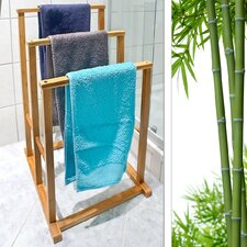 Bamboo Free Standing Towel Stand
