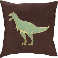 Dinosaur Land Microsuede Throw Pillow