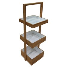 bamboo free standing shower caddy
