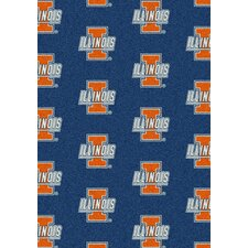 College Repeating NCAA Illinois Novelty Rug by My Team by Milliken