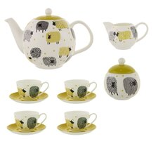 Dotty Sheep 7 Piece Bone China Tea Set