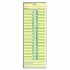 Time Card for Cincinnati / Lathem / Simplex/ Acroprint
