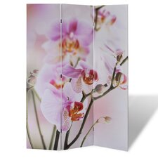 3-tlg. Raumteiler Blumen, 180 x 120 cm