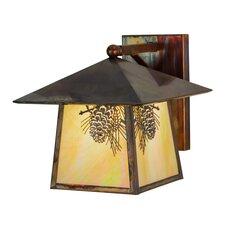 Greenbriar Oak 1-Light Outdoor Wall Lantern