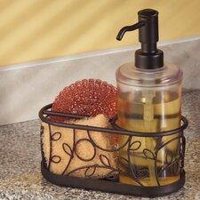 Twigz Kitchen Countertop Soap Dispenser Pump, Sponge and Scrubby Caddy Organizer