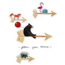Dream a Little Dream 'Follow Your Dreams' by Liz Clay Painting Print on Canvas