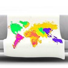 My World by Oriana Cordero Micro Fiber Fleece Throw Blanket