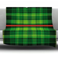 Tartan by Matthias Hennig Micro Fiber Fleece Throw Blanket