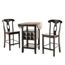 Bayford 3 Piece Counter Height Pub Table Set