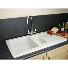 100cm x 50cm Inset Kitchen Sink with Waste Outlet