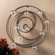 Iron and Glass Sconce