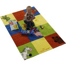 Handgewebter Teppich in Bunt