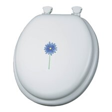 Embroidered Daisy In Bloom Lift-Off Toilet Seat