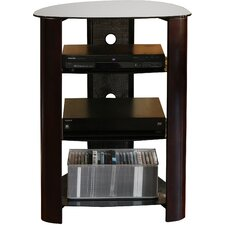 Audio Rack with Glass Shelves