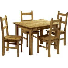 Equador Dining Set with 4 Chairs