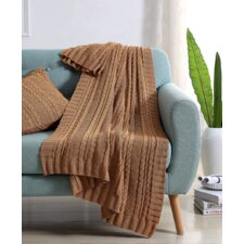 Machias Cable Knit Throw