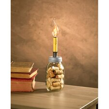 Cleveland Vintage Lighting Small Mouth Canning Jar Dripping Candlestick Light Bulb Lamp Adapter