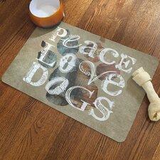 Peace Love Dogs Rug Pad