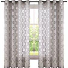 Bairdstown Geometric Sheer Grommet Single Curtain Panel