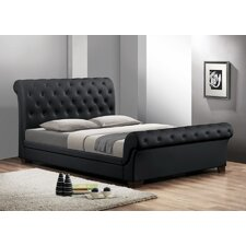 Baxton Studio Queen Upholstered Sleigh Bed