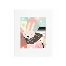 Menagerie Cubist Rabbit Paper Print