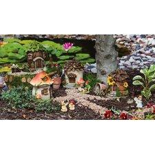 Fairy House 4 Piece Statue Set