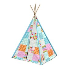 Aqua Patchwork Kid Play Teepee