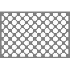 Dots/Pin Stripes Grey/Yellow Area Rug
