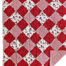 Checkerboard Square Rag Cotton Throw Blanket