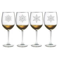 Paper Snowflakes Wine Glass
