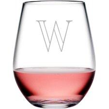 Personalized Plastic 4 Piece 20 oz. Stemless Wine Glass (Set of 4)
