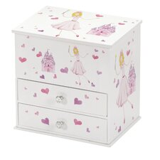 Beatrice Princess and Castle Chest Style Musical Jewellery Box