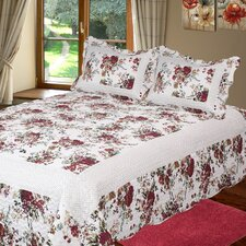 Bella Rosa 3 Piece Reversible Quilt Set