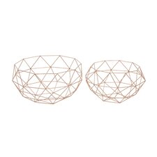 2 Piece Metal Basket Set