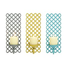 3 Iron Piece Sconce Set (Set of 3)