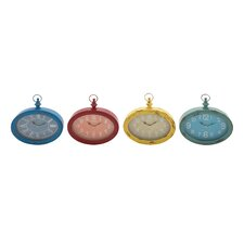 Metal Wall Clock (Set of 4)