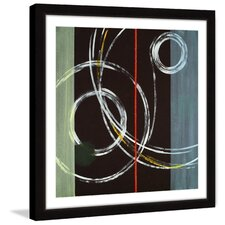 circle swirl framed painting print