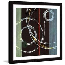 circle swirl framed painting print
