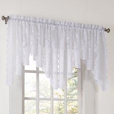 Alison Floral Sheer Lace Rod Pocket Curtain Valance