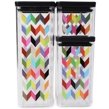 Ziggy Airtight Food Storage 3 Piece Kitchen Canister Set