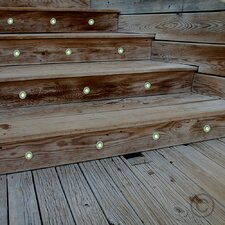 30 Piece LED Deck, Step and Rail Lights Set (Set of 10)