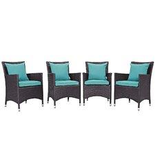 Convene Deep Seating Chair with Cushion (Set of 4)