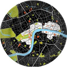 """City on a Plate 12"""" London Dinner Plate"""
