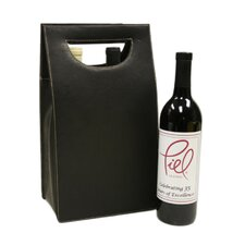 Double Wine Carrier in Chocolate