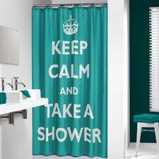 Testo Shower Curtain