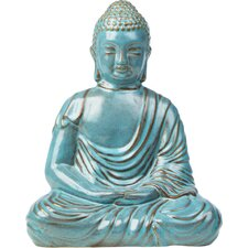 Glazed Ceramic Large Peaceful Buddha Statue