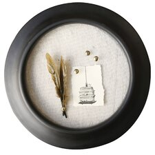 smudge round mdf linen background and 4 pins picture frame